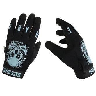 Guanti BLACK HEART - Moto W-TEC Web Skull - NERO, BLACK HEART