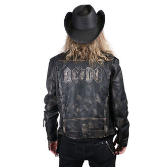 giacca di pelle AC-DC - LROV Black/Beige - NNM
