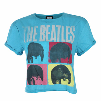 Maglietta da donna (top) THE BEATLES -HARD DAY'S NIGHT - TEAL PANTHER- AMPLIFIED, AMPLIFIED, Beatles
