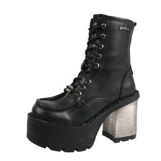 scarpe con il tacco donna - ITALI NEGRO, ITALI NEGRO, RIBETE NEGRO - NEW ROCK, NEW ROCK