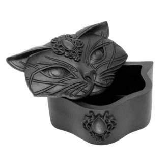 Decorazione (scatola) ALCHEMY GOTHIC - Sacred Cat - Nero, ALCHEMY GOTHIC