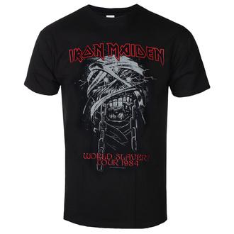 t-shirt metal uomo Iron Maiden - World Slavery 1984 Tour - ROCK OFF, ROCK OFF, Iron Maiden