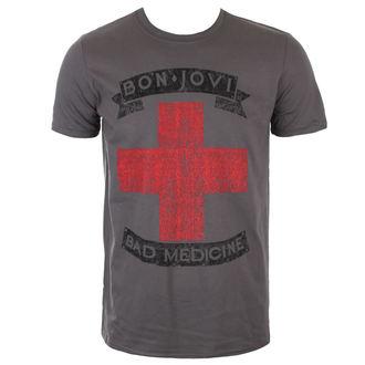 t-shirt metal uomo Bon Jovi - BAD MEDICINE - PLASTIC HEAD - PH10312