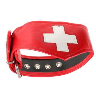collana girocollo  Croce  - bianca / Rosso