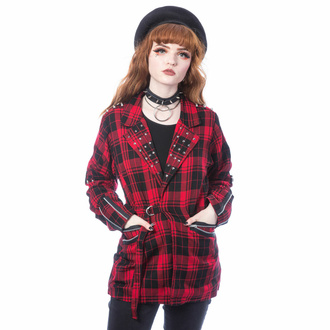 Giacca da donna (blazer) CHEMICAL BLACK - SARDONYX - TARTAN ROSSO, CHEMICAL BLACK