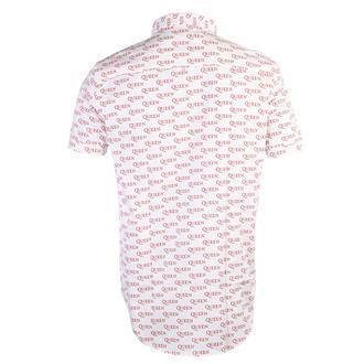 Camicia da uomo Queen - Logo - WHT - ROCK OFF, ROCK OFF, Queen