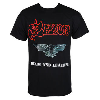 t-shirt metal uomo Saxon - DENIM & LEATHER - RAZAMATAZ, RAZAMATAZ, Saxon