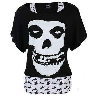t-shirt metal donna Misfits - SKULL - LIVE NATION, LIVE NATION, Misfits