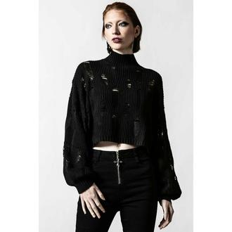 Maglione da donna KILLSTAR - Shred It Crop Knit - Nero, KILLSTAR
