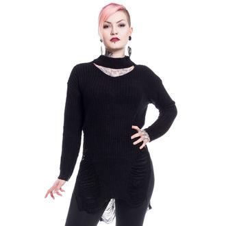 Maglione da donna Vixxsin - SLIT NECK DECAY - NERO, VIXXSIN