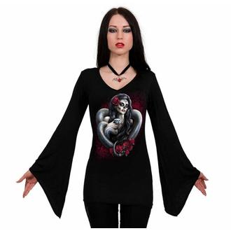 Maglietta da donna a maniche lunghe SPIRAL - DOTD SERPENTE - Nero, SPIRAL