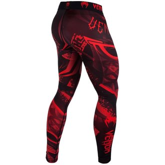 leggings da uomo da allenamento VENUM - Gladiator Red Devil - Nero / Rosso, VENUM