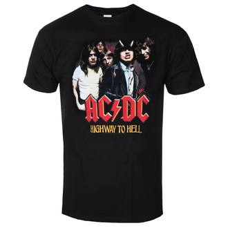 Maglietta da uomo  AC/DC  - Highway To Hell - Gruppo - Nero, BIL, AC-DC