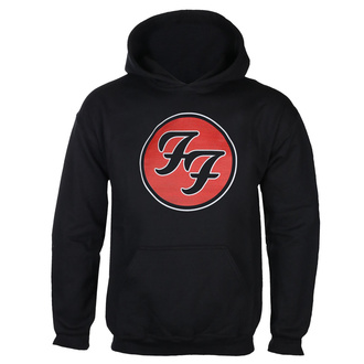 Felpa da uomo con cappuccio FOO FIGHTERS - RED CIRCULAR LOGO - NERO - GOT TO HAVE IT, GOT TO HAVE IT, Foo Fighters