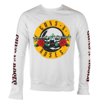 Felpa da uomo Guns N' Roses - Classic & Text Logos - WHT - ROCK OFF, ROCK OFF, Guns N' Roses