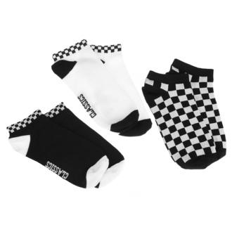 calzini (set di 3 coppie) URBAN CLASSICS - Sneaker Checks 3-Pack - nero / bianco - TB3387