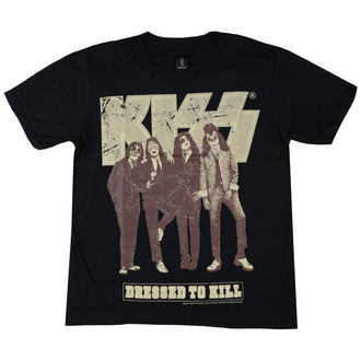 t-shirt metal bambino Kiss - Dressed to Kill - LOW FREQUENCY, LOW FREQUENCY, Kiss