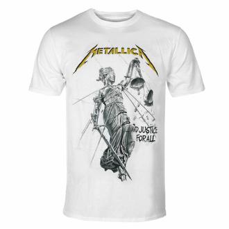 Maglietta da uomo Metallica - Justice Album - bianca, NNM, Metallica