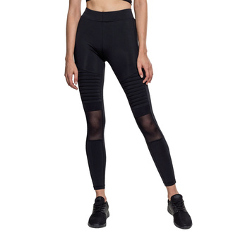 Leggins da donna URBAN CLASSICS - Tech Mesh Biker Leggings - nero, URBAN CLASSICS