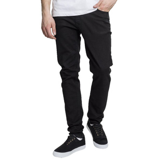 Pantaloni da uomo URBAN CLASSICS - Basic Stretch Twill 5 Pocket - nero, URBAN CLASSICS