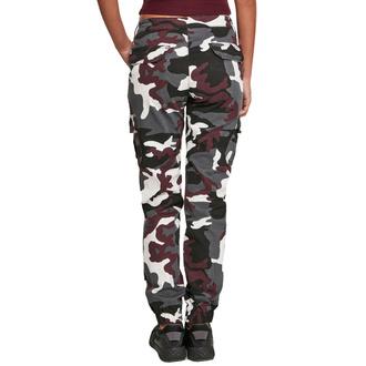 Pantaloni da donna URBAN CLASSICS - High Waist Camo Cargo - vino camo, URBAN CLASSICS