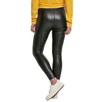 Leggins da donna URBAN CLASSICS - Faux Leather Skinny - nero, URBAN CLASSICS