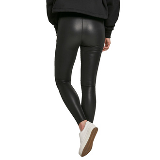 Leggins da donna URBAN CLASSICS - Fake Leather Tech Leggings - nero, URBAN CLASSICS
