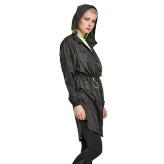 Giacca da donna URBAN CLASSICS - Transparent Light Parka - nero / lime, URBAN CLASSICS