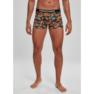 Boxer da uomo URBAN CLASSICS - 3-Pack - blu camo / arancione, URBAN CLASSICS