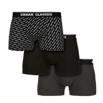 Boxer da uomo URBAN CLASSICS - 3-Pack - branding AOP / nero, URBAN CLASSICS