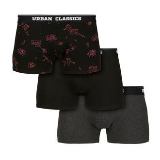 Boxer da uomo URBAN CLASSICS - 3-Pack - carbone / funky, URBAN CLASSICS