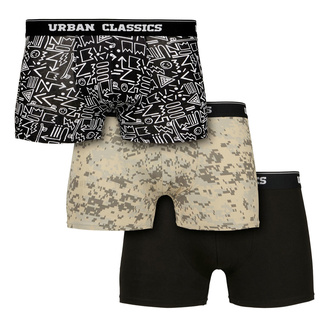 Boxer da uomo URBAN CLASSICS - 3-Pack - digitale camo / azteco, URBAN CLASSICS