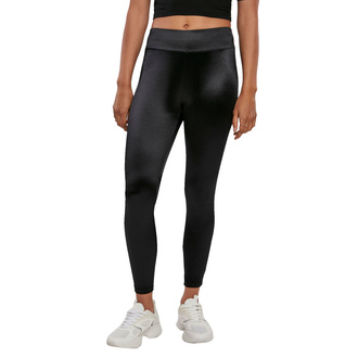 Leggins da donna URBANO CASSICS - Shiny High Waist Leggings - nero, URBAN CLASSICS