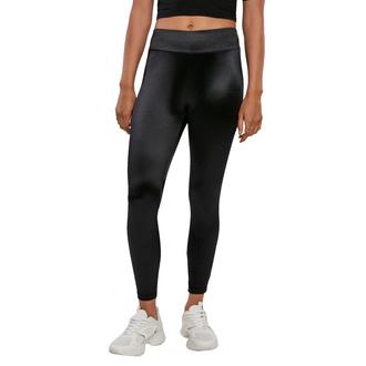 Leggins da donna URBANO CASSICS - Shiny High Waist Leggings - nero, URBAN CLASSICS