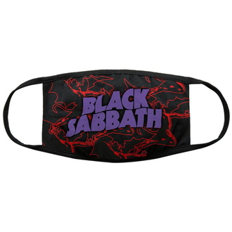 Mascherina Black Sabbath - Red Thunder V2 - ROCK OFF, ROCK OFF, Black Sabbath
