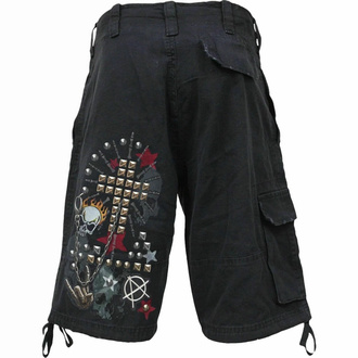Pantaloncini da uomo SPIRAL - GOTH METAL - Nero, SPIRAL