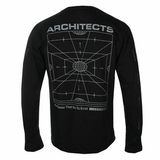 Maglietta da uomo a maniche lunghe Architects - FTTWTE Grid- Nero - KINGS ROAD, KINGS ROAD, Architects