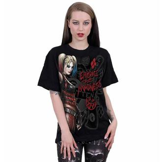 Maglietta unisex SPIRAL - Harley Quinn - EMBRACE MADNESS - Nero, SPIRAL