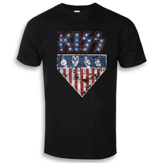 t-shirt metal uomo Kiss - Stars & Stripes - HYBRIS, HYBRIS, Kiss