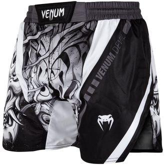 Boxe pantaloncini (fightshorts) VENUM - Devil - bianca / Nero, VENUM
