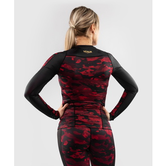 Maglietta a maniche lunghe da donna maglietta (termica) VENUM - Defender - Rashguard - Nero / Rosso, VENUM