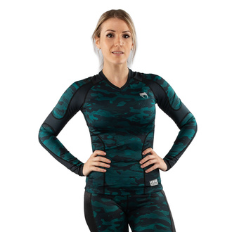 Maglietta a maniche lunghe da donna (termica) VENUM - Defender - Rashguard - Nero / verde, VENUM