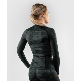 Maglietta da donna a maniche lunghe (termica) VENUM - Defender - Rashguard - Nero / Nero, VENUM