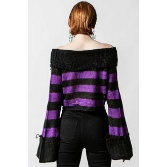 Maglione da donna KILLSTAR - Veruca Sale maglia - Nero / Prugna, KILLSTAR