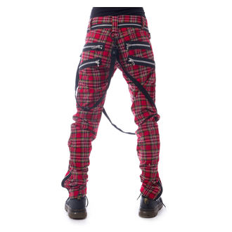 pantaloni VIXXSIN - VINCENT - ROSSO TARTAN, VIXXSIN