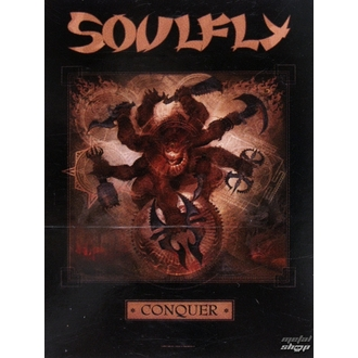 bandiera Soulfly 'Conquer 1', HEART ROCK, Soulfly
