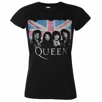 Maglietta da donna Queen - Packaged Union Jack - Nero - ROCK OFF, ROCK OFF, Queen