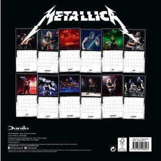Calendario per anno 2019 - METALLICA, Metallica