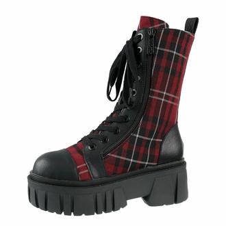 Scarpe KILLSTAR - Kick The Bucket Boots - BLOOD TARTAN - KSRA003936