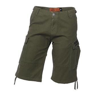 Uomo pantaloncini WEST COAST CHOPPERS - CARGO - Oliva verde, West Coast Choppers